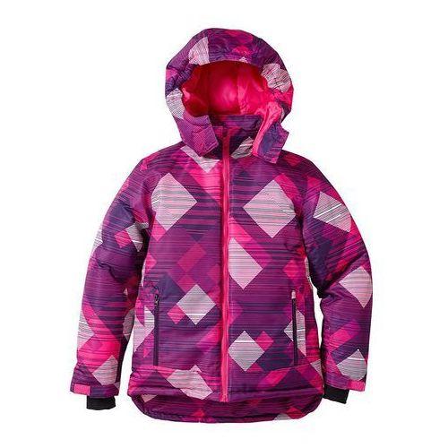 Kurtka narciarska  lila - jeżynowy z nadrukiem, bonprix z bonprix