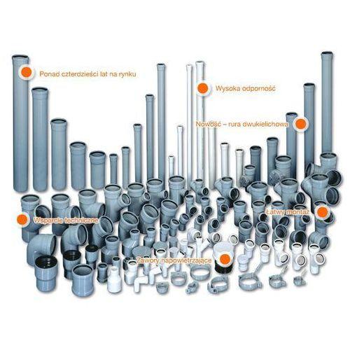Trójnik kanalizacyjny Wavin HT PVC/PP 110x50/88* stopni popiel