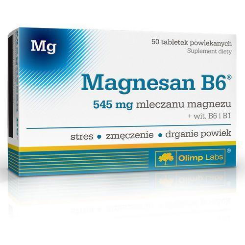 OLIMP MagneSan B6 50 tabletek, postać leku: tabletki