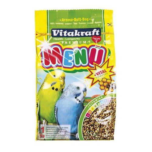 VITAKRAFT Menu Vital – pokarm podstawowy z miodem dla papużki falistej 1kg, Vitakraft