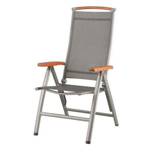 Fotel aluminiowo-drewniany w kolorze srebrnym Denver ze sklepu Fitness4You.pl