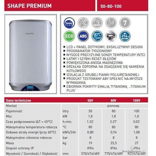 Produkt  Elektryczny pojemnościowy podgrzewacz wody SHAPE PREMIUM 50l [3605155], marki Ariston