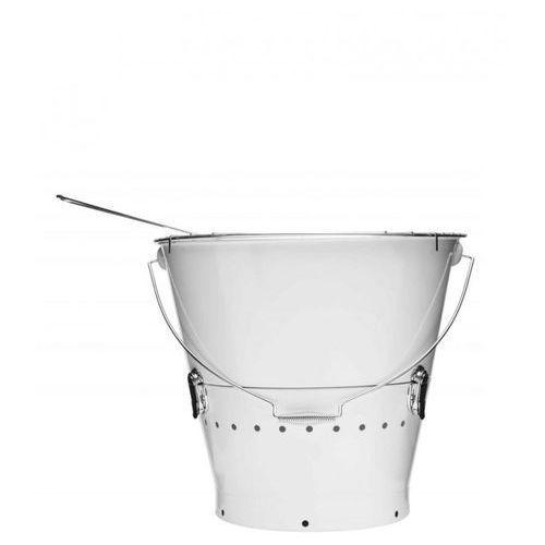 Duży grill w kształcie wiaderka - bialy, produkt marki Gadżety24