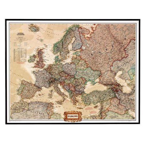 Europa. Mapa ścienna polityczna Executive magnetyczna w ramie 1:8,4 mln wyd. , produkt marki National Geographic