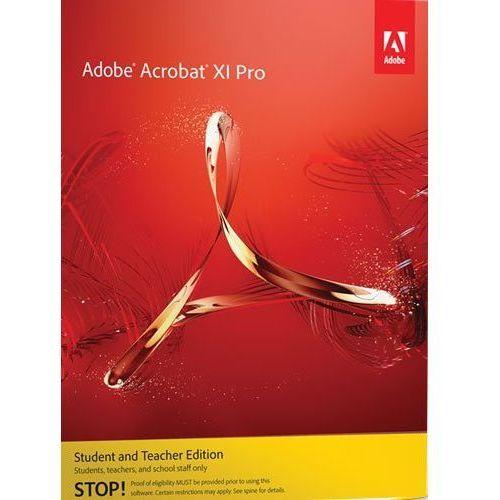 Produkt z kategorii- pozostałe oprogramowanie - Adobe Acrobat XI Pro ENG Win – wersja dla uczniów i nauczycieli
