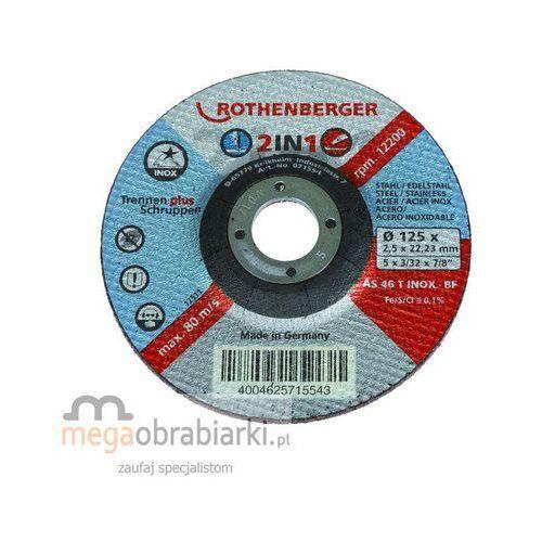 ROTHENBERGER Tarcza tnąca i zdzierająca w jednym INOX 2in1 115 RATY 0,5% NA CAŁY ASORTYMENT DZWOŃ 77 415 31 82 ze sklepu Megaobrabiarki - zaufaj specjalistom