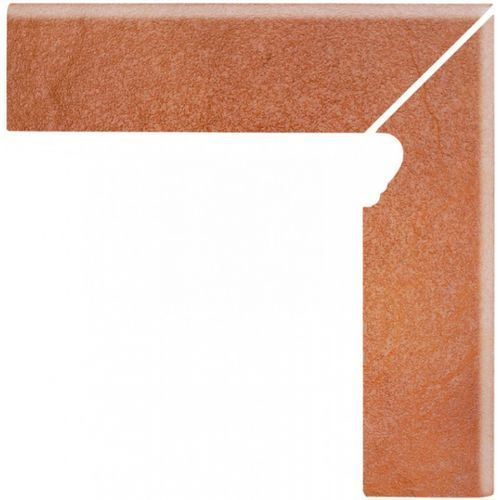 Solar Orange Cokół Schodowy Prawy 3-D 30x8 (glazura i terakota)
