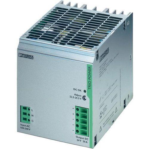 Artykuł Zasilacz na szynę Phoenix Contact TRIO-PS/1AC/24DC/20, 24 V, 20 A z kategorii transformatory