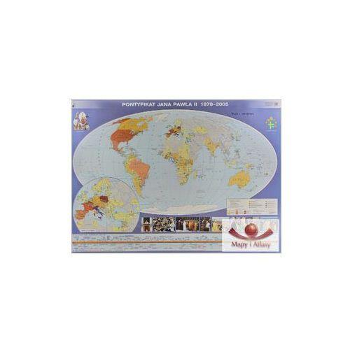 Pontyfikat Jana Pawła II 1978-2005 / Papież Jan Paweł II w Polsce. Mapa ścienna, produkt marki Nowa Era