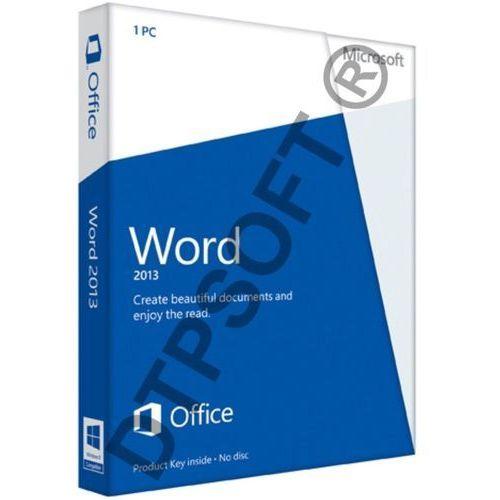 Microsoft Word 2013 32/64bit PL Win ESD - wersja niekomercyjna - produkt z kategorii- Pozostałe oprogramowanie