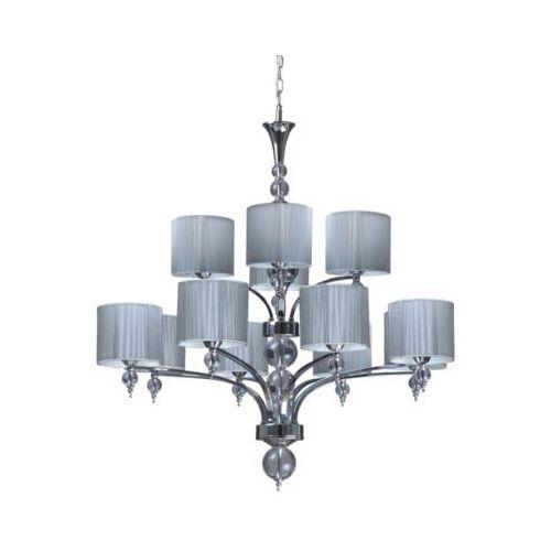 Abażurowa LAMPA wisząca OPRAWA żyrandol do salonu LYON Spotlight 5071122 srebrny - sprawdź w MLAMP.pl - Rozświetlamy Wnętrza