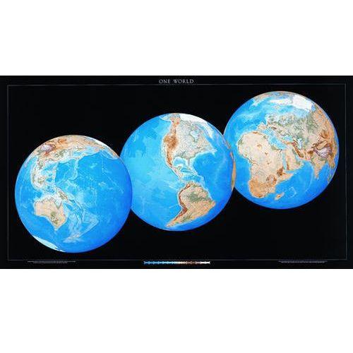 Świat. Mapa ścienna 3 Globes View wyd. , produkt marki Raven Press
