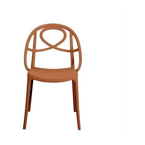 Krzesło ogrodowe Green Etoile pomarańczowe ze sklepu All4home