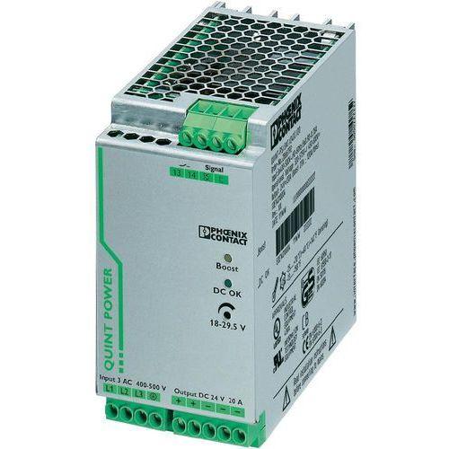 Artykuł Zasilacz na szynę Phoenix Contact QUINT-PS/3AC/24DC/20, 24 V, 20 A z kategorii transformatory