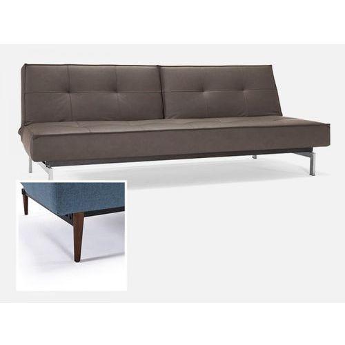 Sofa Splitback brązowa 592 nogi ciemne drewno  741010592-741007-3-2, INNOVATION iStyle