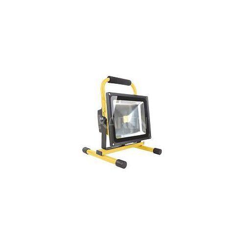 Whitenergy  Naświetlacz LED z baterią 30W|6000K|2400lm|IP65| na stojaku z kat. pozostałe oświetlenie zewnętrzne
