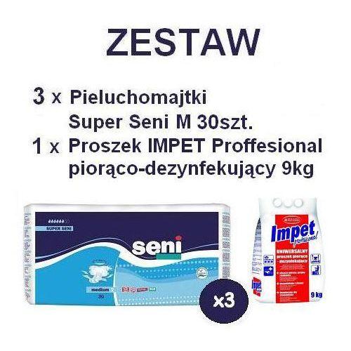 3 x Pieluchomajtki Super Seni M 30szt. + Proszek piorąco-dezynf. IMPET, kup u jednego z partnerów