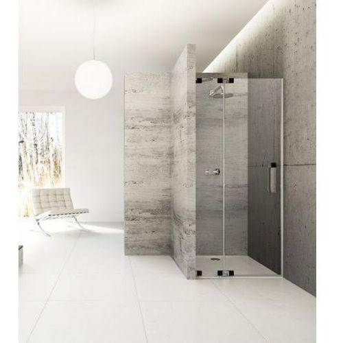 Huppe Studio Berlin Pure Drzwi prysznicowe bezramowe drzwi skrzydłowe ze stałym segmentem do wnęki Mocowani