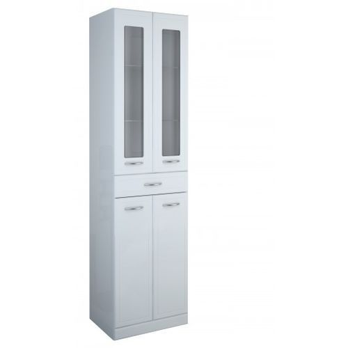 ELITA słupek 50 ze szklaną witryną Aqua Line 164014 - produkt z kategorii- regały łazienkowe