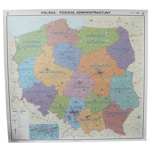 Polska. Mapa ścienna administracyjna w ramie 1:500 000 wyd. , produkt marki Nowa Era