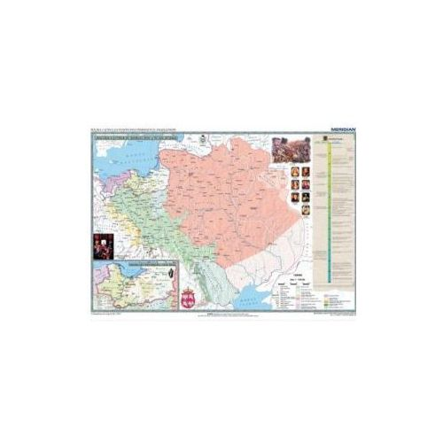 Produkt Polska i Litwa za pierwszych Jagiellonów / Europa XIV - XV w. Mapa ścienna., marki Meridian