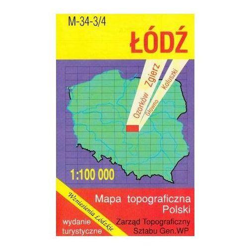 M-34-3/4 Łódź. Mapa topograficzno-turystyczna 1:100 000 wyd. WZ-Kart, produkt marki Wojskowe Zakłady Kartograficzne
