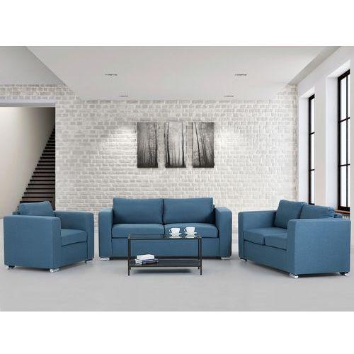 Zestaw wypoczynkowy niebieski - Sofa - trzyosobowa - dwuosobowa - fotel - HELSINKI, Beliani