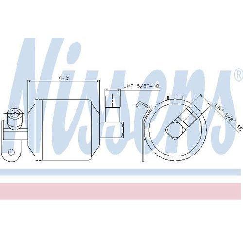 Towar z kategorii: osuszacze powietrza - Osuszacz, klimatyzacja NISSENS 95204