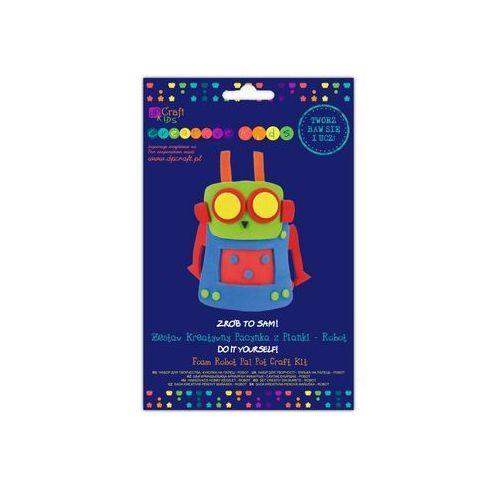 Zestaw kreatywny pacynka z pianki Robot (pacynka, kukiełka)