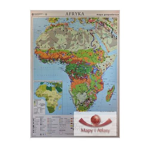 Afryka. Mapa ścienna gospodarcza, produkt marki Nowa Era