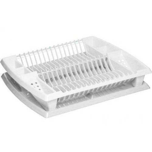 Suszarka do naczyń z ociekaczem Plast Team, duża, biała - produkt z kategorii- suszarki do naczyń