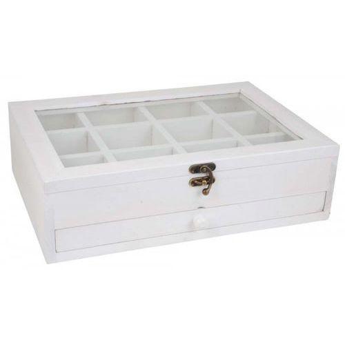 Pudełko z 12 Przegródkami, Szufladą i Szklaną Pokrywką Ib Laursen 5276-11 - produkt dostępny w sfmeble.pl