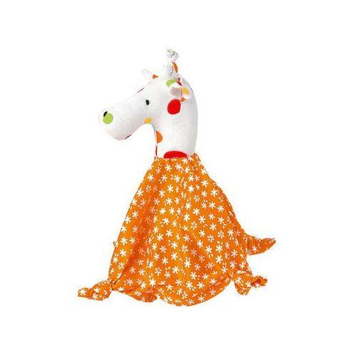 Pacynka na palec ''Giraffe'' w kolorze pomarańczowym - od pierwszych dni życia (pacynka, kukiełka)