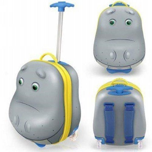 Walizka-Plecak BOUNCIE 3D 2w1 Hipopotam - produkt dostępny w Media Expert