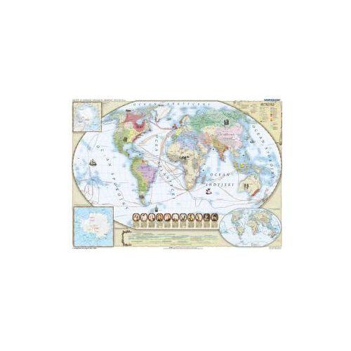 Produkt Świat w okresie wielkich odkryć XVII-XVIII w. Mapa ścienna świata, marki Meridian