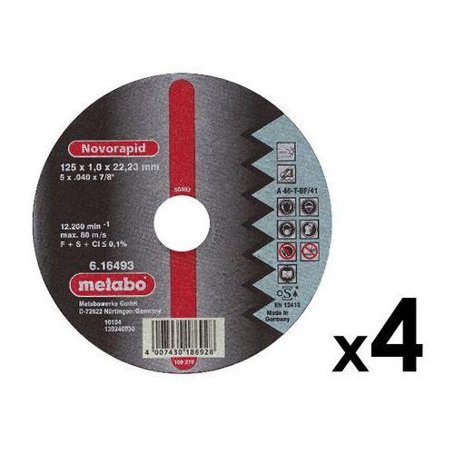 4 szt. tarcz tnących 125x1,0x22,23mm do stali nierdzewnej Novorapid Metabo ze sklepu NEXTERIO
