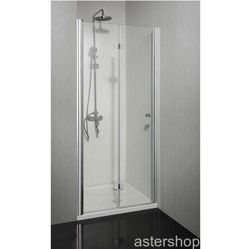 SMARTFLEX drzwi prysznicowe składane do wnęki lewe 90x195cm D1290FL (drzwi prysznicowe)