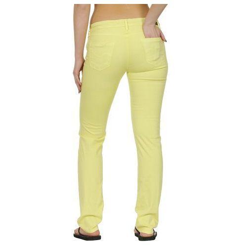 jeansy Roxy Amber Flat - Bleached Yellow - produkt z kategorii- spodnie męskie