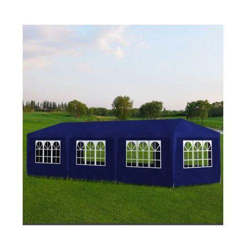 Pawilon ogrodowy, namiot ogrodowy, niebieski (3x9m). - produkt z kategorii- namioty ogrodowe