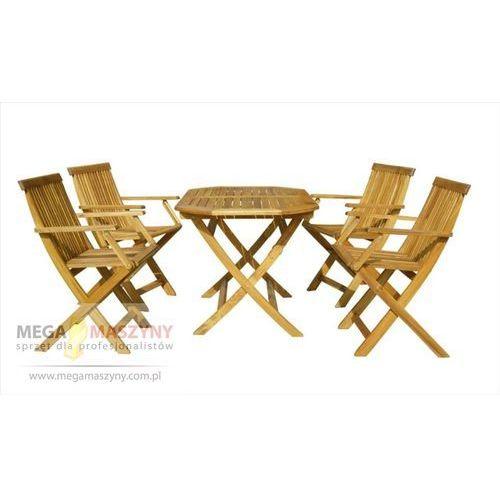 HECHT Zestaw ogrodowy - stół + 4 krzesła Basic Set 4 (stół ogrodowy)