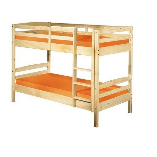 Łóżko piętrowe Clara naturalny 200x102 cm ze sklepu FUTURI Nowoczesne Meble