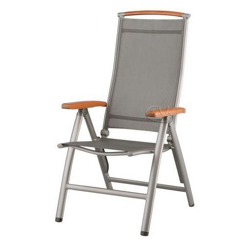 Fotel aluminiowo-drewniany w kolorze srebrnym Denver ze sklepu Garden4you.pl