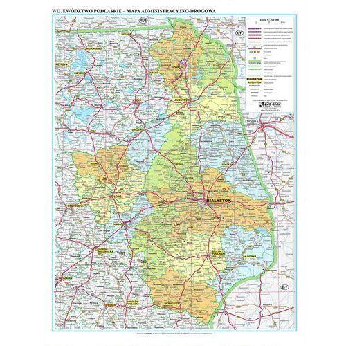 Województwo Podlaskie. Mapa ścienna administracyjno-drogowa magnetyczna w ramie 1:200 000 wyd. , produkt marki Eko-Graf