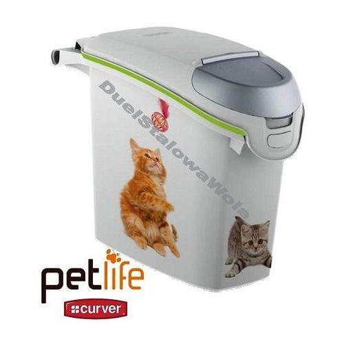 CURVER PETLIFE 6kg 15L pojemnik na karmę pudełko Kotek 230x500x360h - produkt dostępny w organizery.eu