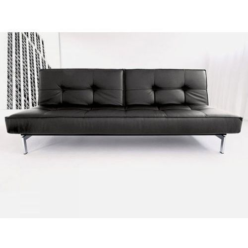 Sofa Splitback czarna 582 nogi chromowane  741010582-741010-0-2, INNOVATION iStyle