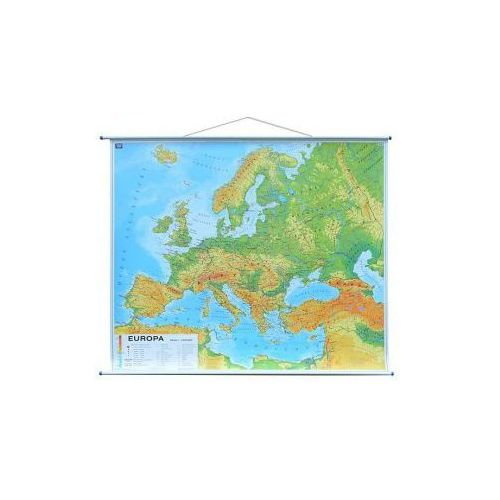 Europa mapa ścienna fizyczna 1: 3 000 000 , produkt marki Nowa Era