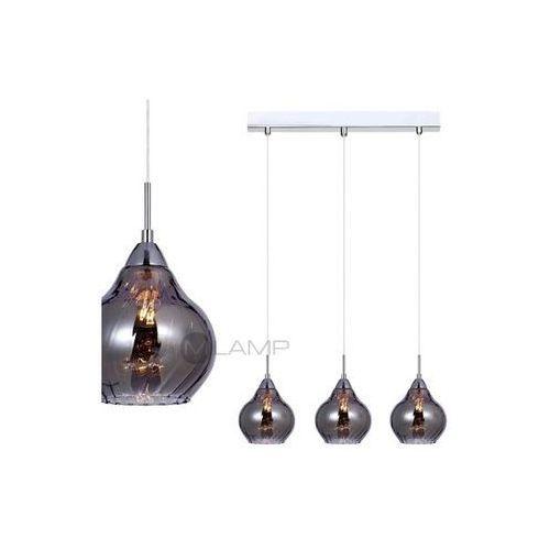 Artykuł LISTWA szklana LAMPA wisząca OPRAWA nad stół TEMPS Italux MDM2171/3 B IP20 chrom z kategorii lampy wiszące