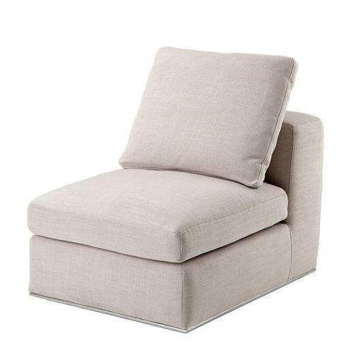 EICHHOLTZ Montreal Natural 1 Seater Sofa Kremowa Tkanina - 08470