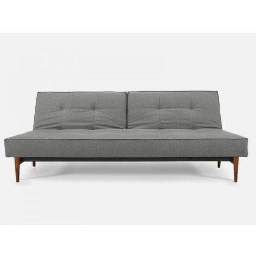 Sofa Splitback szara 216 nogi ciemne drewno  741010216-741007-3-2, INNOVATION iStyle