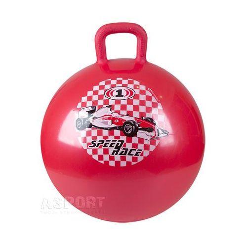 Piłka skacząca z uchwytem 45cm RACE BALL czerwona , produkt marki Spokey